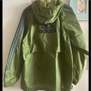 Army Green Adidas Rain Jacket EUC